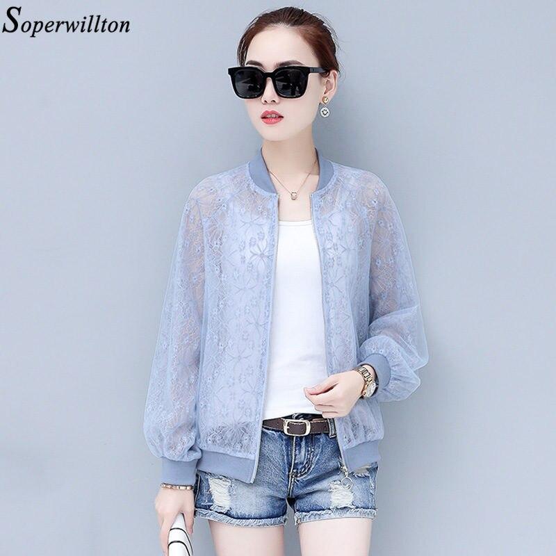 Женская кружевная куртка, белая, синяя, с длинным рукавом, на молнии, большие размеры, A51|Куртки|   | АлиЭкспресс