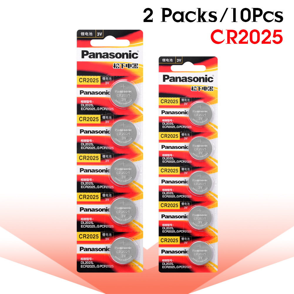 Panasonic Original 10PCS/LOT Cr 2025 3V Lithium Cr2025 Button Cell Batteries Coin Battery For LED Lights Toys Watches