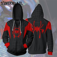 цена Autumn Funny Print Hoodies Iron Spider Man Venom Black Panther 3D Hoodies Spiderman Sweatshirts Women Harajuku онлайн в 2017 году