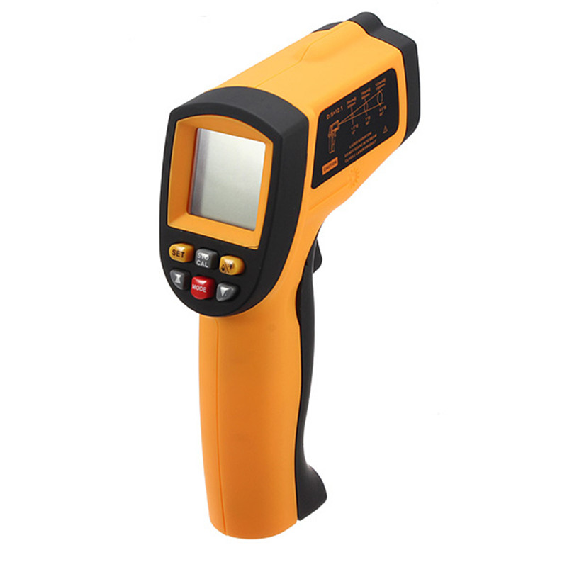GM900 Thermometer Digital IR Laster Infrared Temperature Meter Non-contact LCD Gun Style Hand held -50-900C -58-1652F Pyrometer  цены