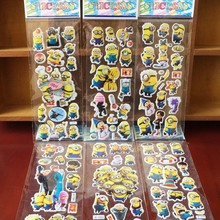 Cute Minions Stickers DIY Stationery Office Cute Cartoon Kids Creative Stickers Decorative Diary Label Scrapbook Girl Boy Gift(China)