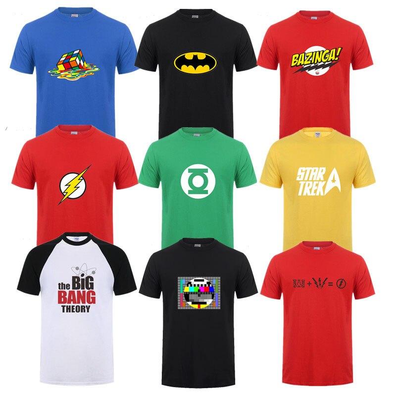 The Big Bang Theory Mens Fashion T-shirt Sheldon Cooper Men Summer Short sleeve Cotton T-shirts Man T shirt Casual Tees Tops