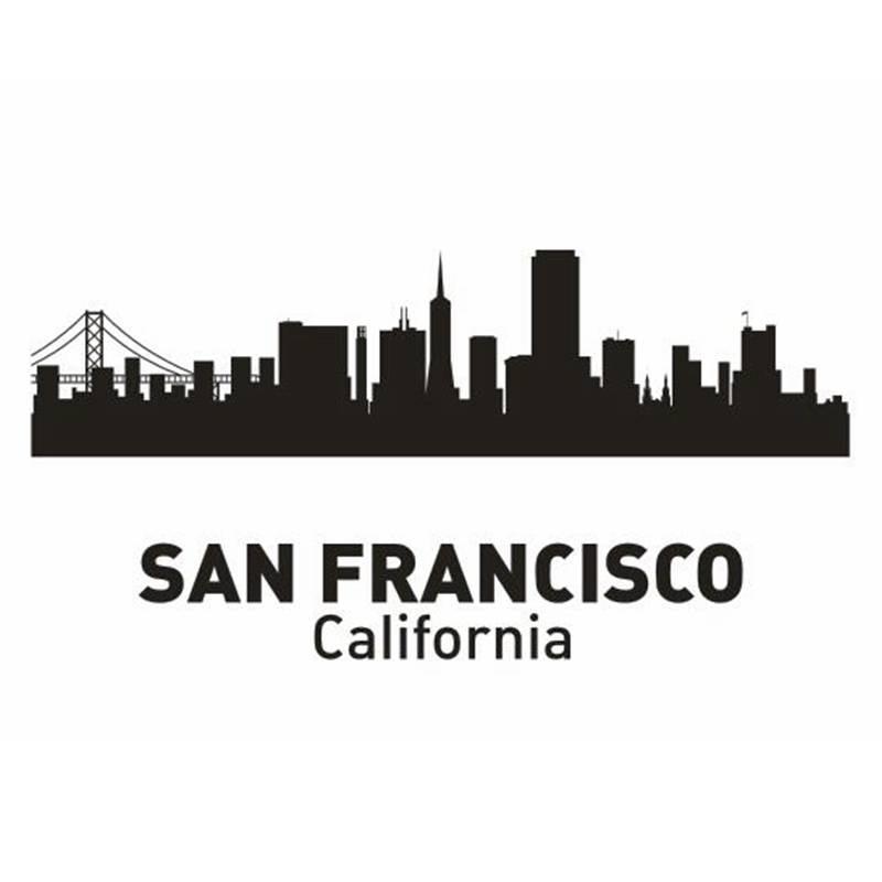 DCTAL SAN FRANCISCO City Decal Landmark Skyline Wall