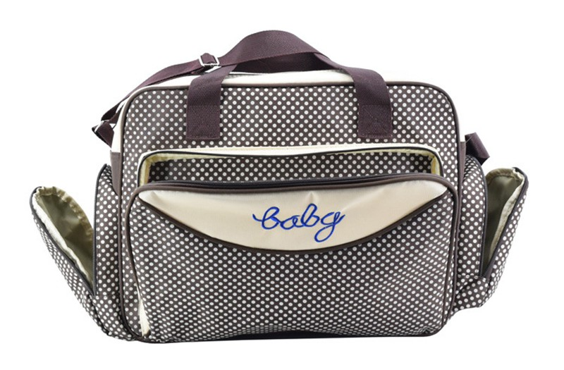 MOTOHOOD Baby Diaper Bag Organizer Baby Care Carriage Bag For Stroller Fashion Dot Multifunction Baby Bags For Mom 451530cm (1)