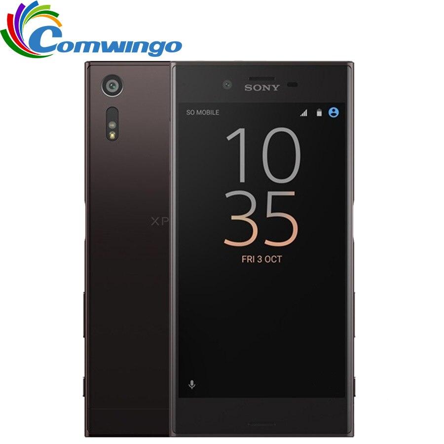 Оригинальный разблокированный sony Xperia XZ F8332 ОЗУ 3 Гб ПЗУ 64 Гб GSM Две sim карты 4G LTE Android четырехъядерный 5,2 23 Мп wifi gps 2900 мАч