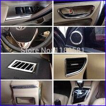 For Toyota Corolla 2014 2015 2016 ABS Chrome Inside Interior Cover Trim Full Set