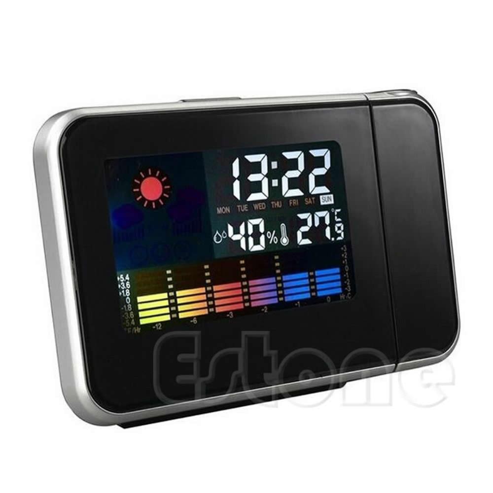 Desk Bedside Digital Alarm Clock Tempreture Display Orange Light New Promotion LED Alarm Clock