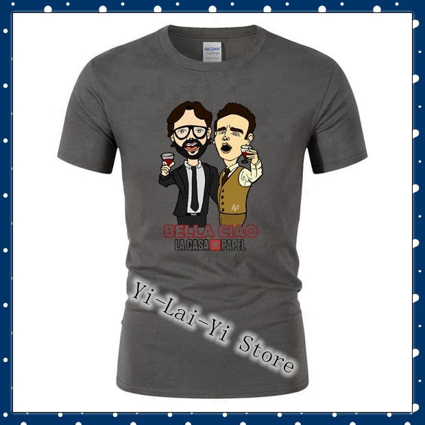 La Casa De Papel House Of Paper Money Heist Short Games   T  -  Shirt   Women   T     Shirt   Mens Pure-Cotton Short Sleeve   T     Shirt   Game   T     Shirt