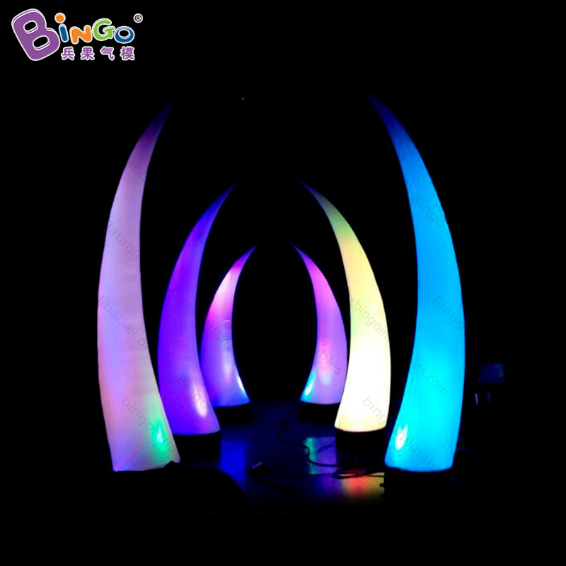 2018 Hot sale 3m high LED lighting Inflatable pillar column for party events, lighted inflatable curved cone -inflatable toy2018 Hot sale 3m high LED lighting Inflatable pillar column for party events, lighted inflatable curved cone -inflatable toy