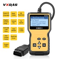 VXDAS V310 Car Code Reader Auto AD310 OBD2 Scanner V1.1 16pin Male Engine Coolant Temp Car Speed Probe OBDII Diagnostic Tool
