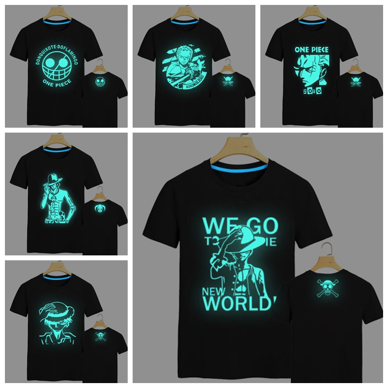 one piece luffy zoro fluorescent t shirt anime crazy store. Black Bedroom Furniture Sets. Home Design Ideas