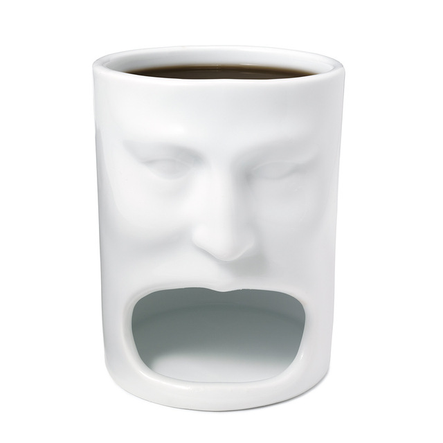 Face Mug - Ceramic Cookies Cup Dunk Mug with Biscuit holder NEW STYLE 1