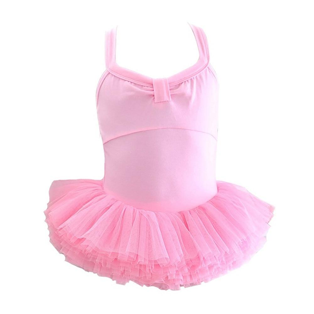 Kids Girls Sleeveless Tulle Tutu Ballet Dancer Leotard Dress Children Princess Gymnastics Ballerina Dancing Costumes