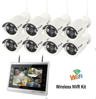 11 Inch LCD Display Wirless 8CH Outdoor Water Proof IP Camera NVR Kit