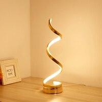 LED post modern minimalist creative art living room lamp acrylic lamp aluminum bedside lamp bedroom decorative table lamps