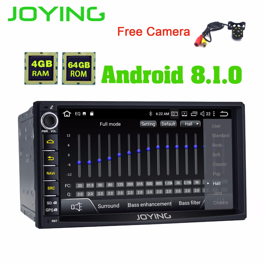 "JOYING 2 din Car Radio 7 ""4GB Autoradio Multimedia Player Estéreo para automóvil con cámara de visión trasera gratis DSP Pantalla HD Reproductor de radio AM FM"
