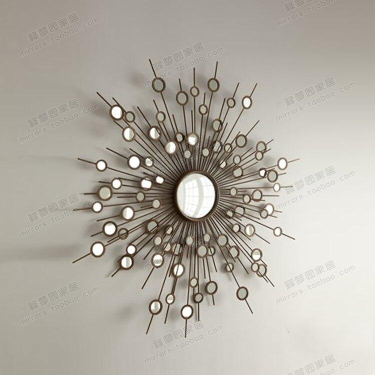 decorative wall mirrors furniture corsica dark wood x - Decorative Wall Mirrors