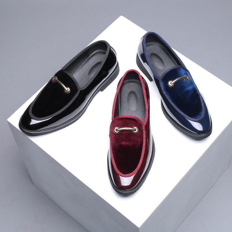 2019 el más nuevo de los hombres de moda Formal de Mariage de la fiesta de la boda zapatos de alta calidad del dedo del pie puntiagudo zapatos de negocios zapatos de los holgazanes de los hombres zapatos Oxford zapatos