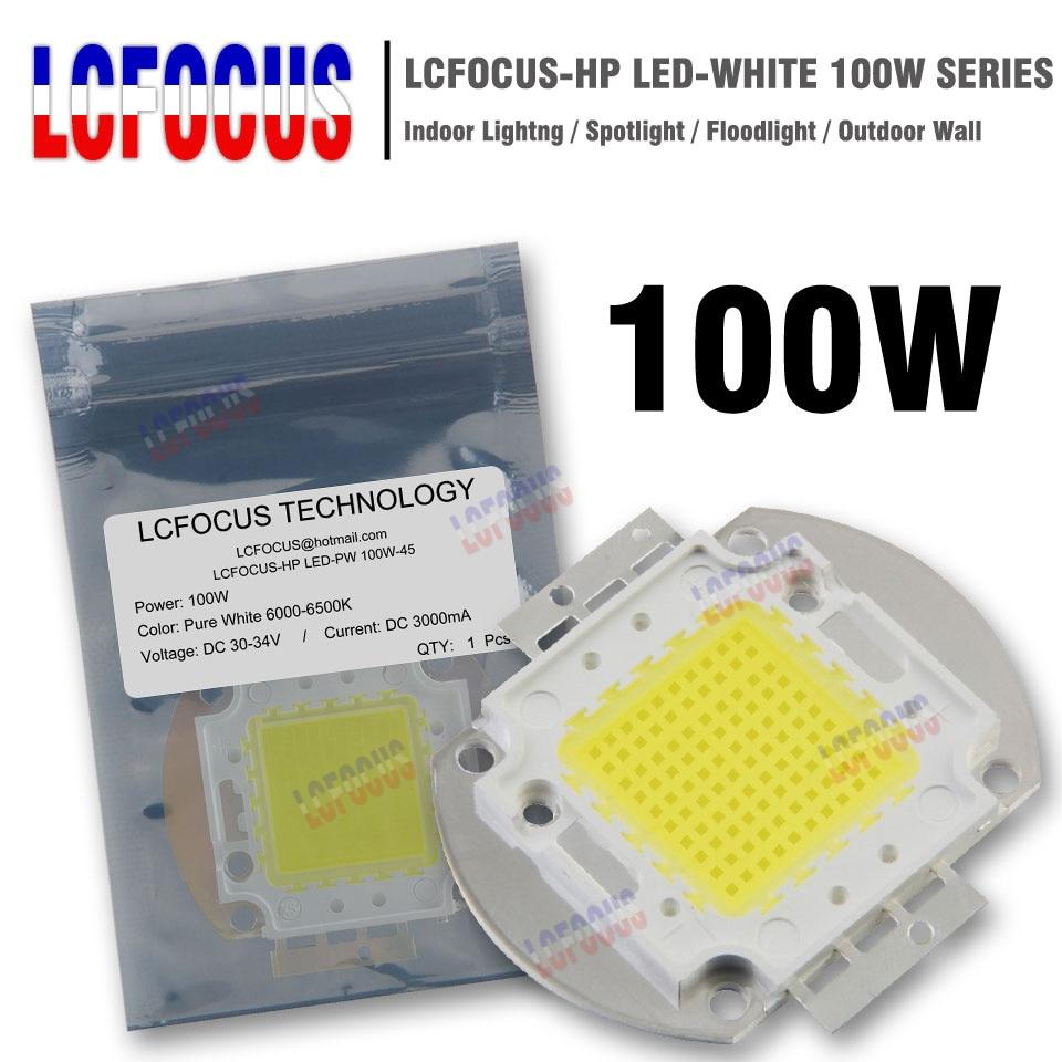 High Power LED Chip 100W Warm Natural Cool White 3000K 4000K 6000K 10000K 20000K 30000K SMD COB Light Beads For DIY Fooldlight rnt23 черный пиджак с воротником стойкой