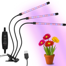 3/6/12H Timer Plant Grow Light 3 Switch Modes Lights Red/Blue Spectrum Dimmable Lamp