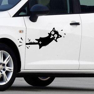 Image 3 - Autocollant interrupteur créatif, Stickers muraux décoratifs pour voiture, en vinyle, avec chat noir, 1 pièce