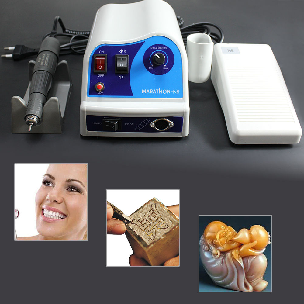NEW Electric Marathon Micromotor Polishing unit N8+45K RPM Handpiece Handstueck Dental Lab Labor Zahntechnik Marathon DHL UPS dental lab polishing micromotor hand piece 35000rpm strong204 108e micromotor handpiece with straight head and contra angle