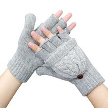 Guantes Airsoft Gloves Women's Winter Mittens Hand Warmer Wool Knitted Glove For Women Thermal Warm Thicken Fitness Gloves