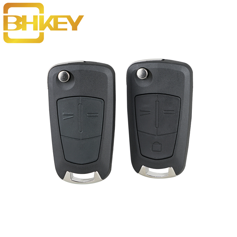 BHKEY Remote Car Key Case Fob For Opel 2/3Buttons HU100 Blade For Vauxhall Opel Astra H Zafira B Corsa D 2005-2012 Key Shell