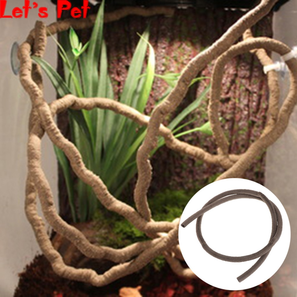 Let's Pet Artificial Vine Reptile Box Case Decoration Lizard Rattan 1m Bend Plant Ornament