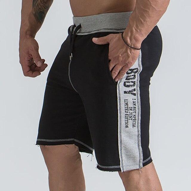 da4e0dcdf Mens ginásio algodão shorts Correndo jogging treino Crossfit Fitness  esportes ao ar livre Moletom masculino roupas