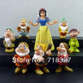 Anime PVC Princess Snow White And The Seven Dwarfs Figures Toy Girl Gift (8 pcs/set ) Wholesale Decoration Doll Action Figure