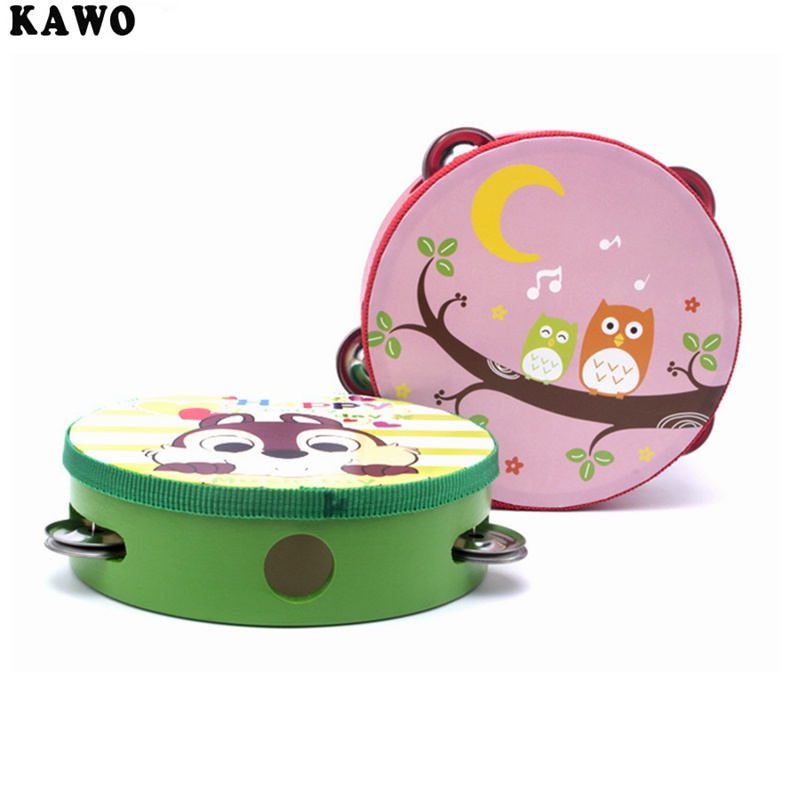 KAWO 6 Inches Brain Game Hand Drums Kinderen Percussie Instrumenten