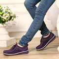 2017 Женщин Туфли На Платформе Весна Осень Натуральная Кожа Оксфорд Обувь Женская Мода Удобные Мокасины Случайные Плоские Туфли ML02