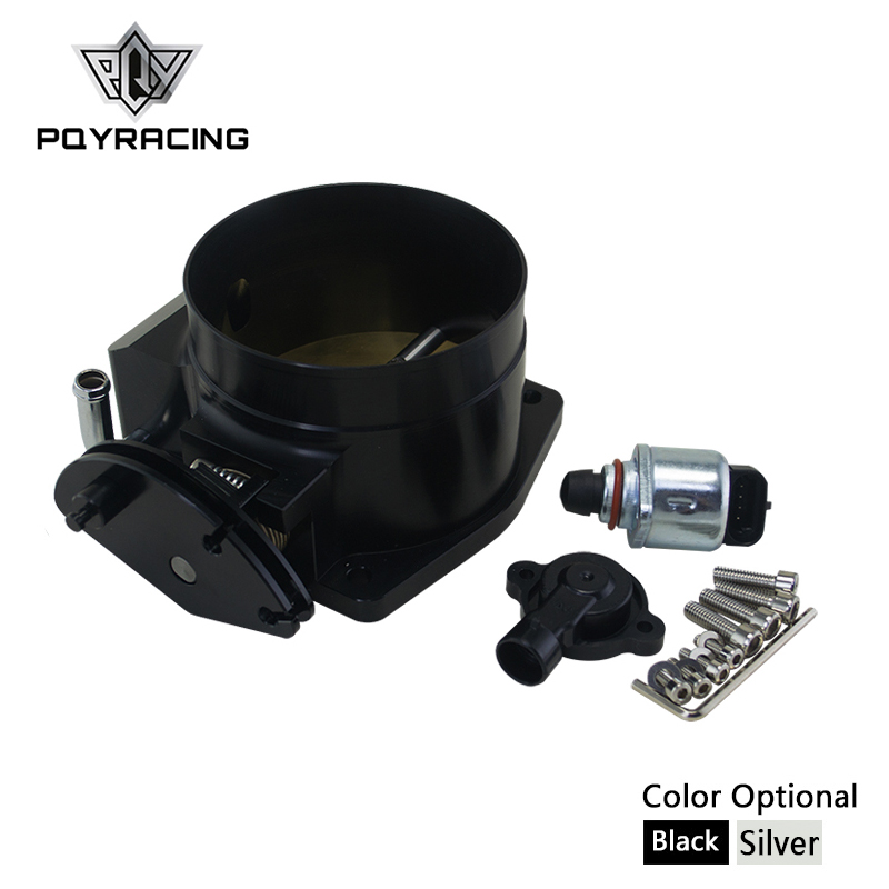 PQY - 92mm throttle body + TPS IAC Throttle Position Sensor for LSX LS LS1 LS2 LS6 SILVER BLACK PQY6937+5961 pqy racing free shipping 92mm throttle body tps iac throttle position sensor for lsx ls ls1 ls2 ls6 pqy6937 5961