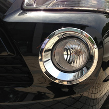 цена на Free Shipping High Quality ABS Chrome Front Fog lamps cover Trim Fog lamp shade Trim For Hyundai Tucson