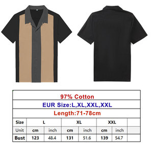 Image 5 - チャーリーハーパーシャツ縦ストライプのシャツ男性 50 ロカビリーシャツボタンダウン綿シャツ半袖ヴィンテージドレス