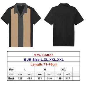 Image 5 - Charlie Harper koszula w paski w pionowe paski koszule dla mężczyzn 50s Rockabilly guzik do koszuli w dół bawełniane koszule z krótkim rękawem w stylu Vintage sukienka