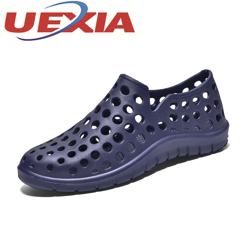 Plus Size 45 Summer Beach Sandals Shoes Men Breathable Casual Water Shoes Outdoor Beach Sandals Mens Slip Ons Zapatillas Hombre