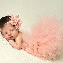 fe3f1f198742dc 0-1y Pasgeboren Baby Meisje Tutu Rok Hoofdband Foto Fotografie Props 2 PC  Outfits Kleding