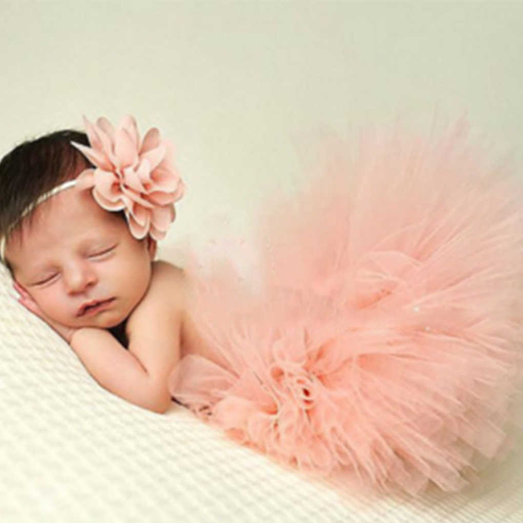 0 1y newborn baby girl tutu skirt headband photo photography props 2pc outfits clothing skirt