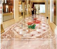 3d картина этаж обои европейский стиль мраморная Роза рельеф 3D полы ванная комната ПВХ обои 3d полы
