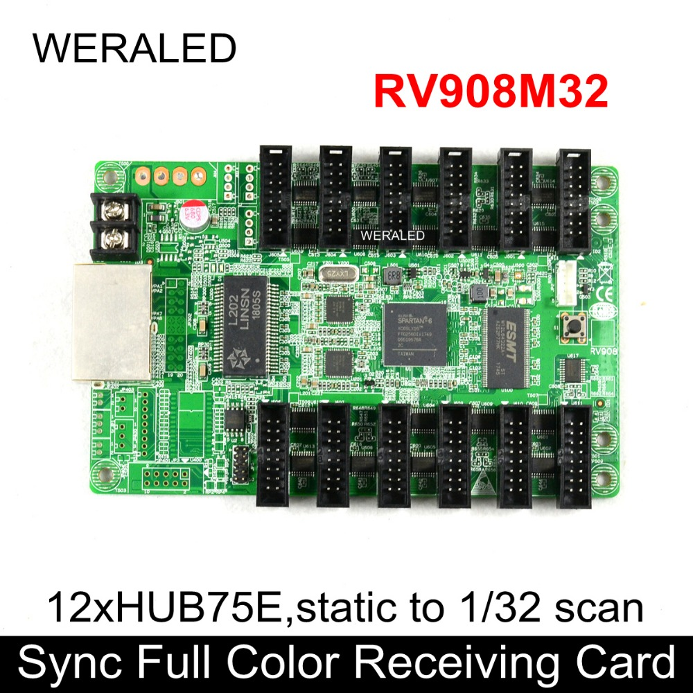 Weraled P2 P25 P3 P4 P5 P6 P10 Indoor Full Color Led Modulesmd 3 Dell Wiring Diagram And P8 Linsn Rv908m32 Synchronous Receiving Cardwork With Ts802 Card To Support