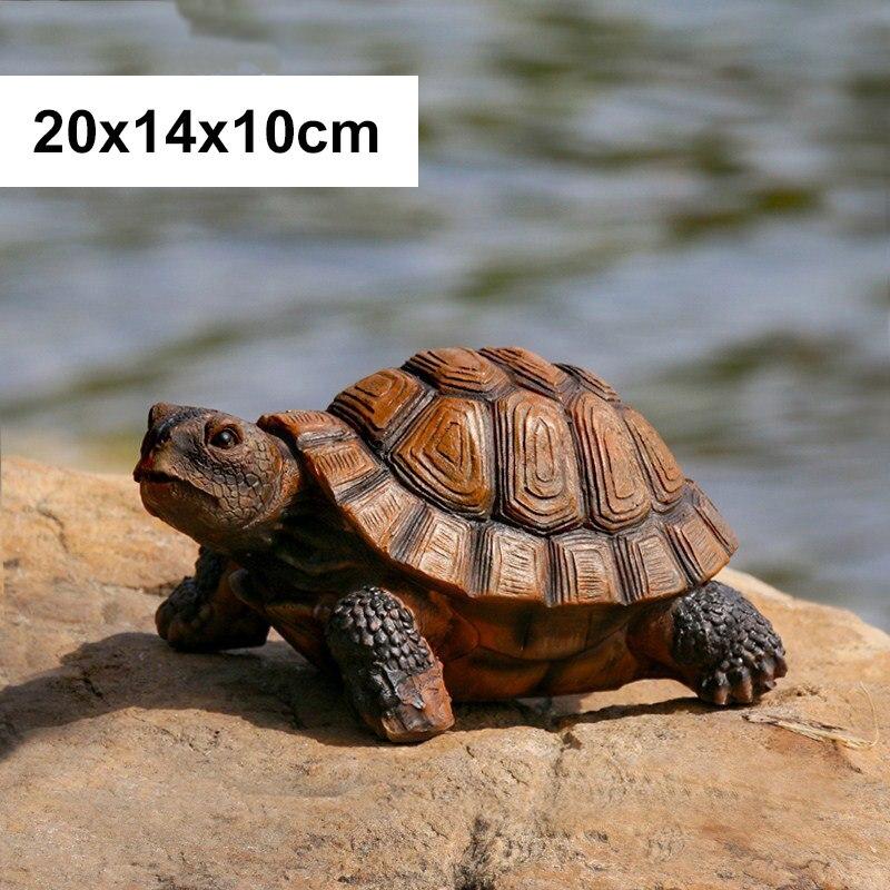 33x24x14 см Искусственный животный орнамент черепаха домашний сад бассейн пруд Смола украшения Статуя Скульптура ремесла Рождественский подарок - Цвет: B