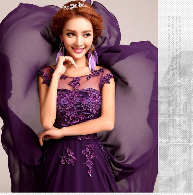 Factory outlet 2017 fashion clothing largo vestido de dama de honor ...