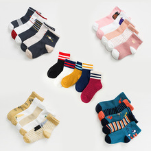 10 PCS/lot=5 Pair Baby Boy Socks Girls Cotton Soft Cartoon Unisex Kids Children For 1-12Y Breathable