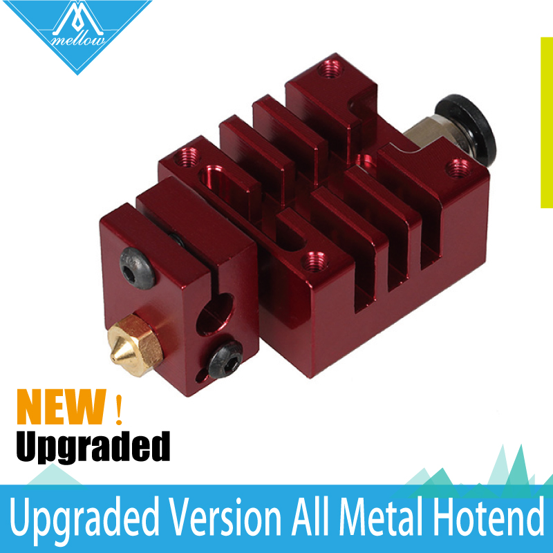 NEW!All-metal high-end Red  V6 Long distance J-head Hotend for 1.75mm  Extruder 0.4 Nozzle for  3D Printer new 12v e3d v6 3d printer extruder j head hotend 0 4mm nozzle for 1 75mm filament fan