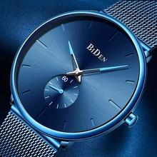 Relogio Masculino Mens Watches Top Luxury Brand Blue Creative Quartz Watch Men Fashion Casual Mesh Steel Clock Male reloj hombre все цены