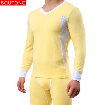 Boxeadores de la ropa interior de los hombres de invierno ropa interior térmica hombres largo Johns Slim conjuntos de ropa interior de algodón largo Johns hombres juegos de ropa interior