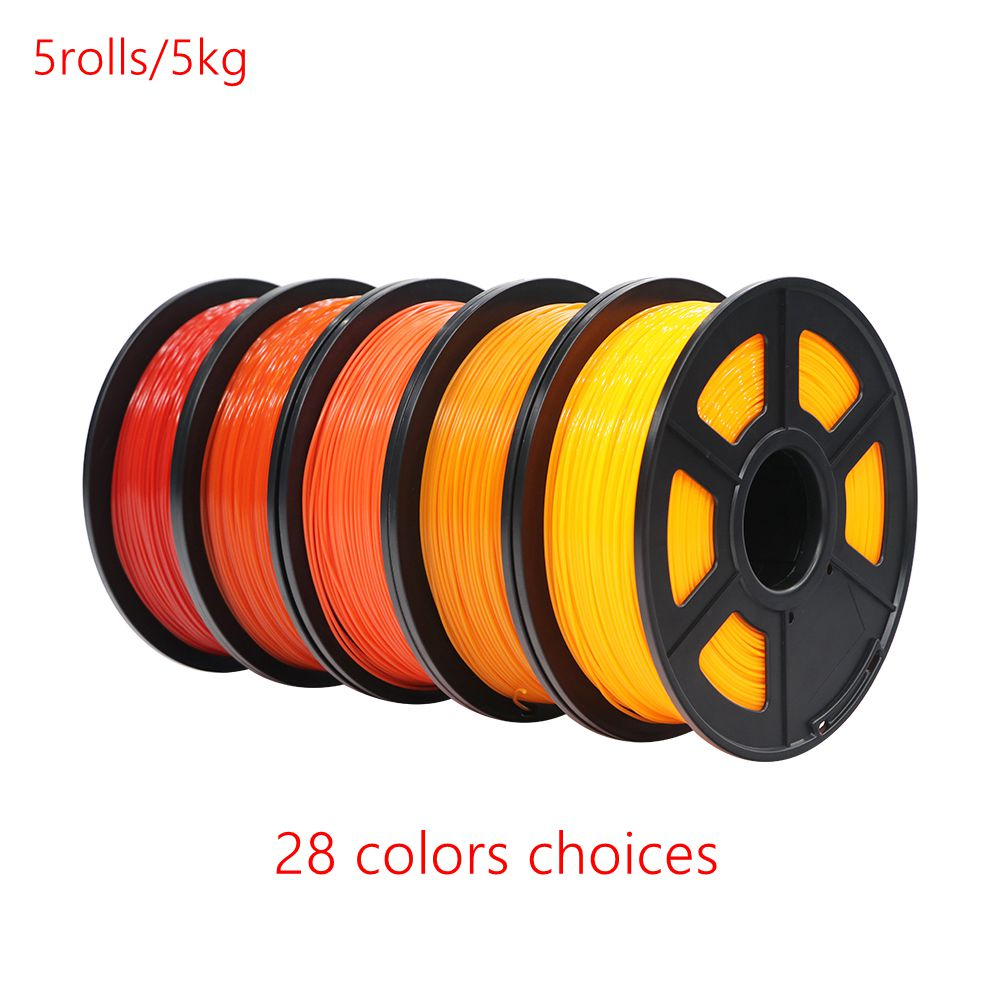 ANYCUBIC Printing Material 5rolls 5kg PLA Filaments 1 75mm Plastic 3D Printer 28 Colors Optional Rubber