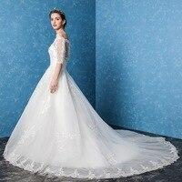 Amanda Novias 2017 New Wedding Dresses On Lace Zipper Chic Robe De Marage Vestidos